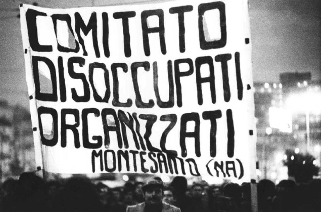 Manifestazione di disoccupati organizzati a Napoli nel luglio 1976.
