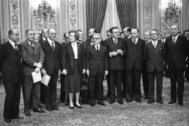La compagine del III governo Andreotti.