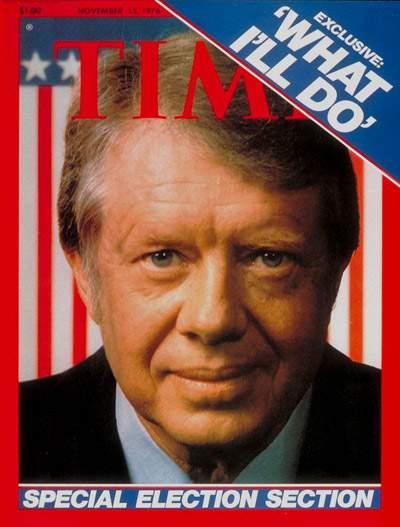 La copertina di Time dedicata all'elezione di Jimmy Carter a Presidente degli Stati uniti.
