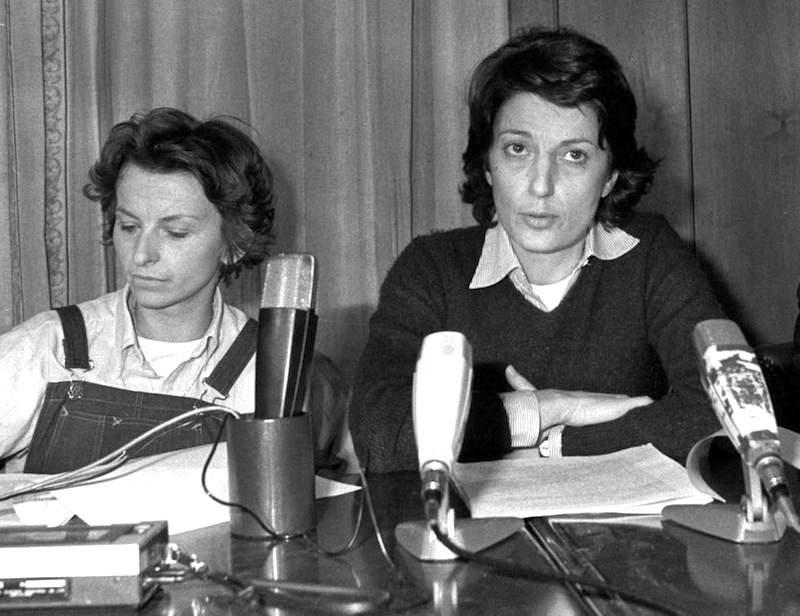 Adelaide Aglietta (a destra), nuova segretaria del Partito radicale, con Emma Bonino.