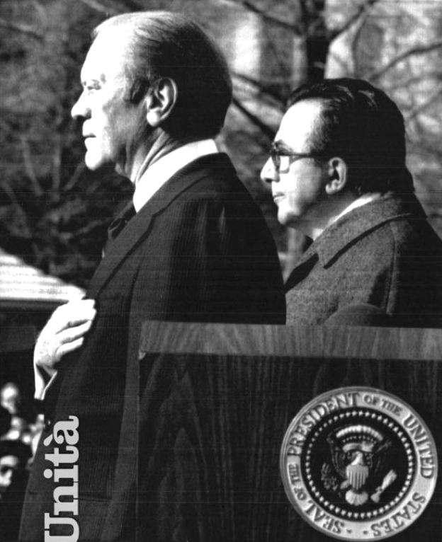 Andreotti, negli Usa nel dicembre 1976, con il Presidente uscente Gerald Ford.