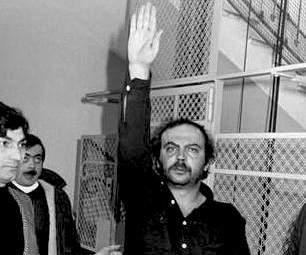 Il neofascista Pierluigi Concutelli, accusato dell'omicidio del giudice Occorsio