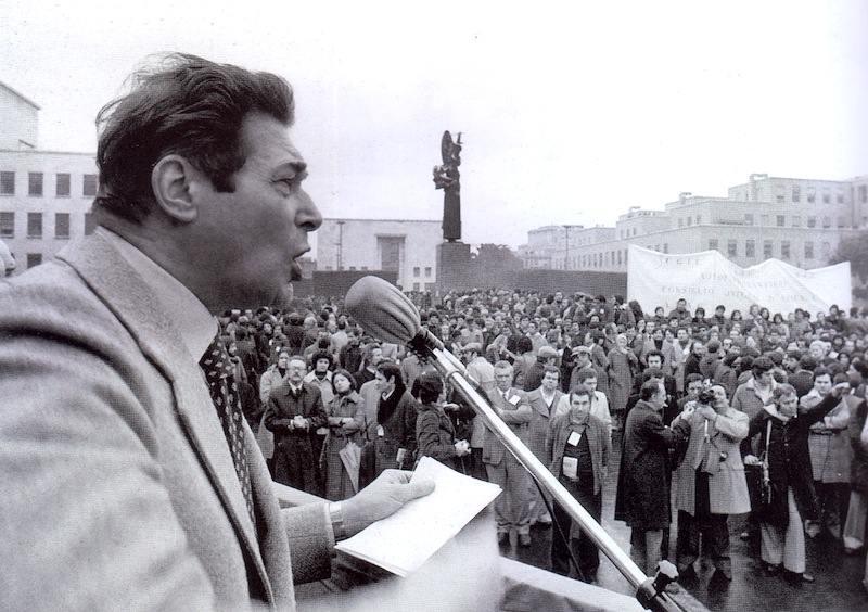 Il comizio di Lama all'Università di Roma il 17 febbraio 1977.