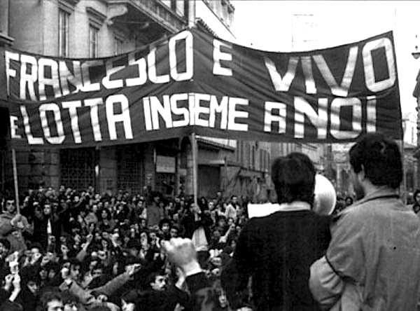 La manifestazione bolognese del 16 marzo 1977 contro la violenza poliziesca.