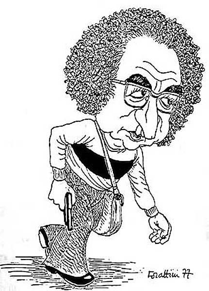 Vignetta di Forattini ispirata alla foto precedente.