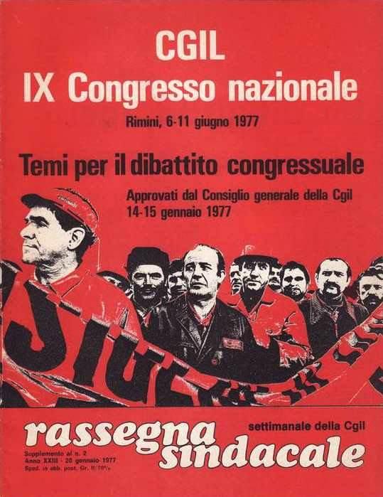 Rassegna sindacale, la rivista della Cgil, dedicata al IX congresso.