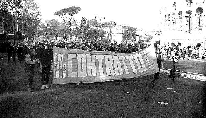 La manifestazione nazionale dei metalmeccanici a Roma del 2 dicembre 1977.