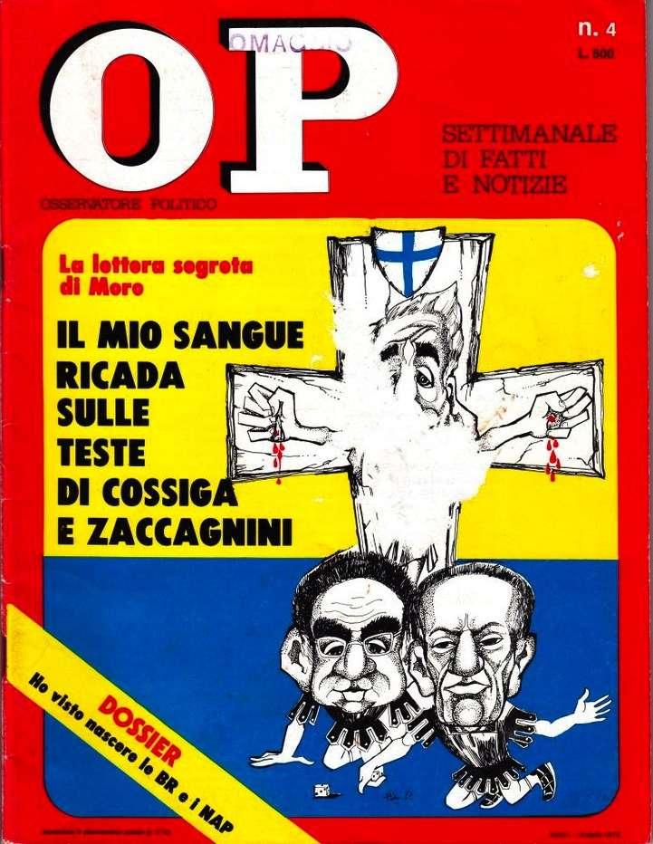 La copertina della rivista Op dedicata alla lettera segreta di Moro.