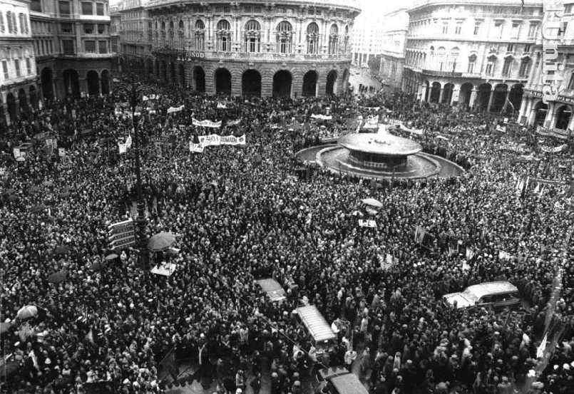 I funerali di Guido Rossa a Genova.