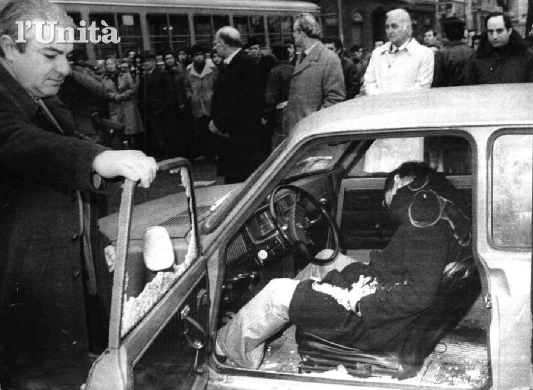 Il corpo del giudice Alessandrini ucciso il 29 gennaio 1979 da un commando di Prima linea.