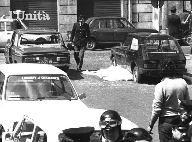 La vittima dell'assalto brigatista alla sede romana della Dc in piazza Nicosia a Roma il 3 maggio 1979.