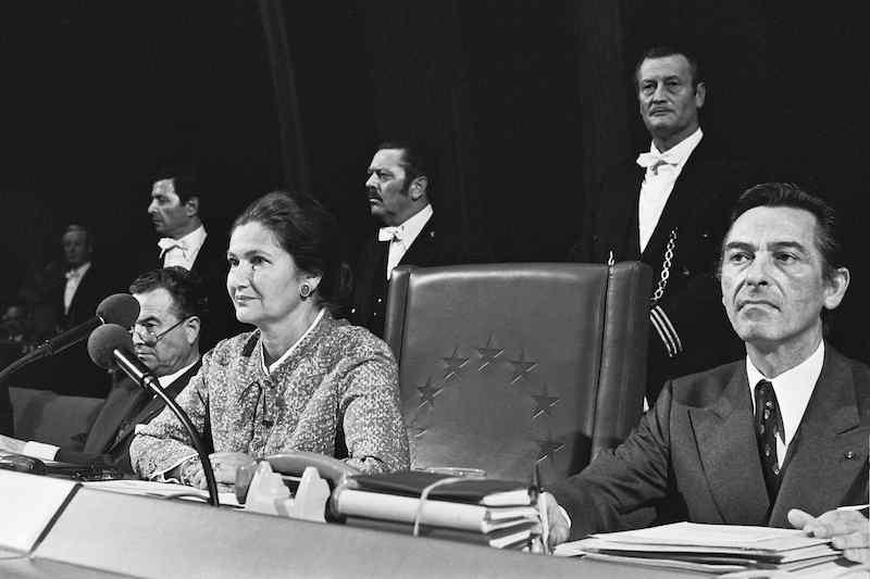 Simone Veil eletta Presidente del Parlamento europeo nel luglio 1979.