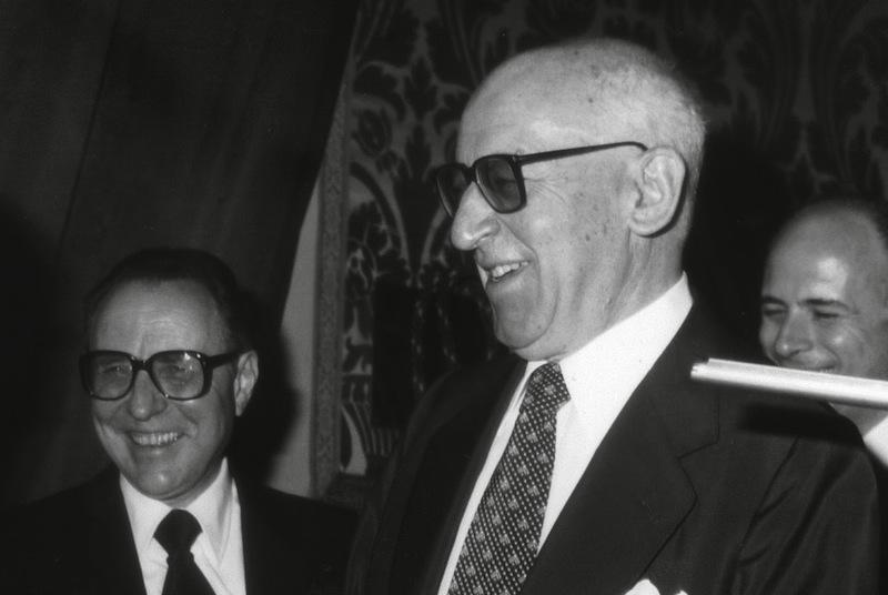 Paolo Baffi (a destra), governatore della Banca d'Italia, e il suo successore Carlo Azeglio Ciampi.