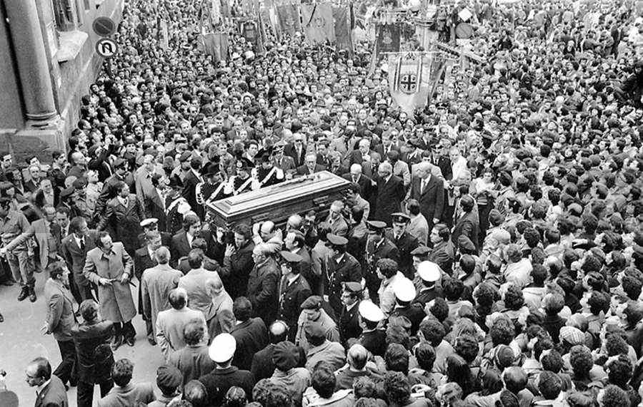 I funerali palermitani di Piersanti Mattarella, Presidente della Regione Sicilia.