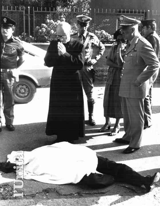 Il corpo del sostituto procuratore Mario Amato, ucciso il 23 giugno 1980 dai Nar, formazione terroristica di destra.