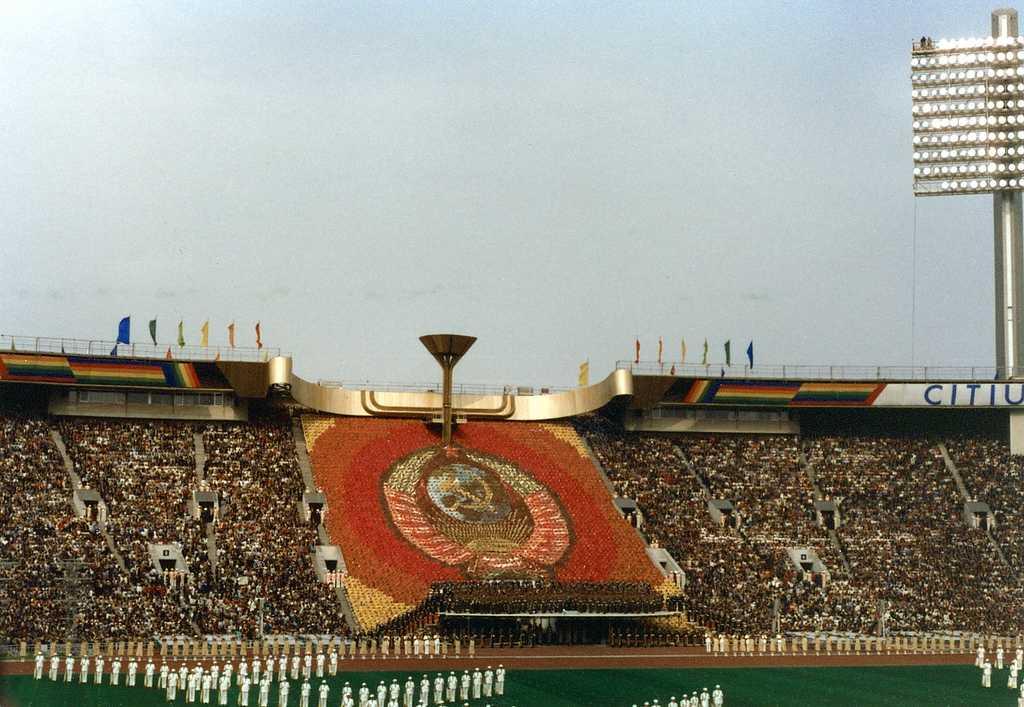 L'apertura a Mosca della XXII Olimpiade del 1980.