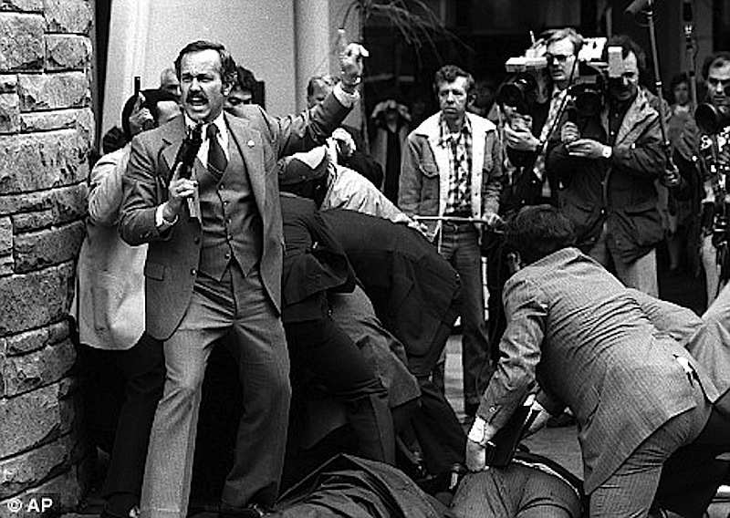 L'attentato al Presidente Usa Reagan del 30 marzo 1981 a Washington.