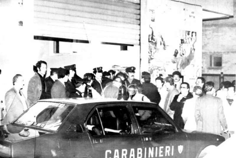 La scena del rapimento di Ciro Cirillo, assessore dc alla regione Campania, ad opera delle Br.