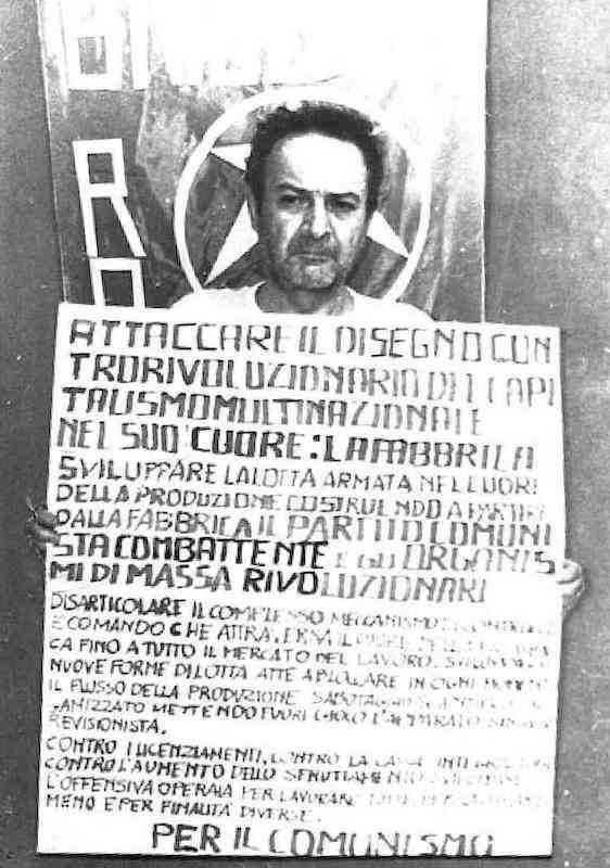 Giuseppe Taliercio, direttore della Montefibre di Marghera, sequestrato dalle Br il 20 maggio 1981.