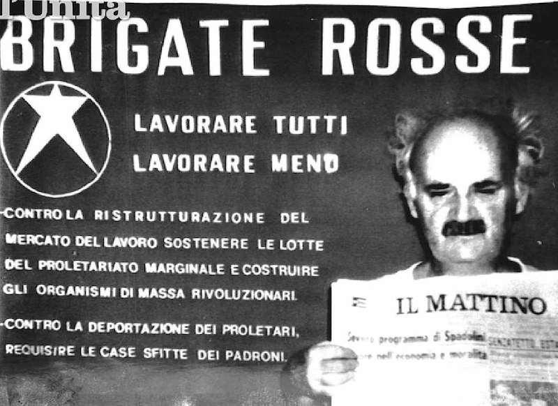 Ciro Cirillo, assessore dc all'Urbanistica di Napoli, nella foto diffusa il 9 luglio 1981 dalle Brigate rosse dopo il sequestro del 27 aprile.