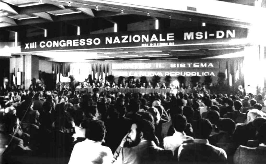 Immagine del XIII congresso del Msi-Dn nel 1982.