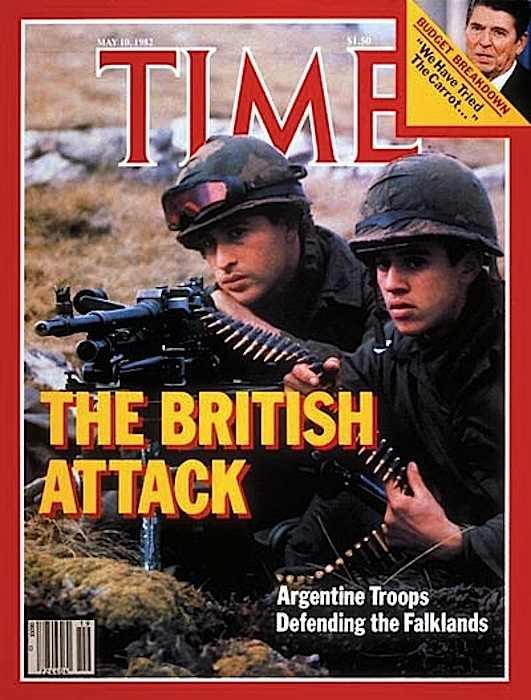 La copertina di Time dedicata alla guerra tra Regno unito e Argentina.