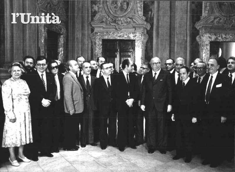 Foto di gruppo del II governo Spadolini.