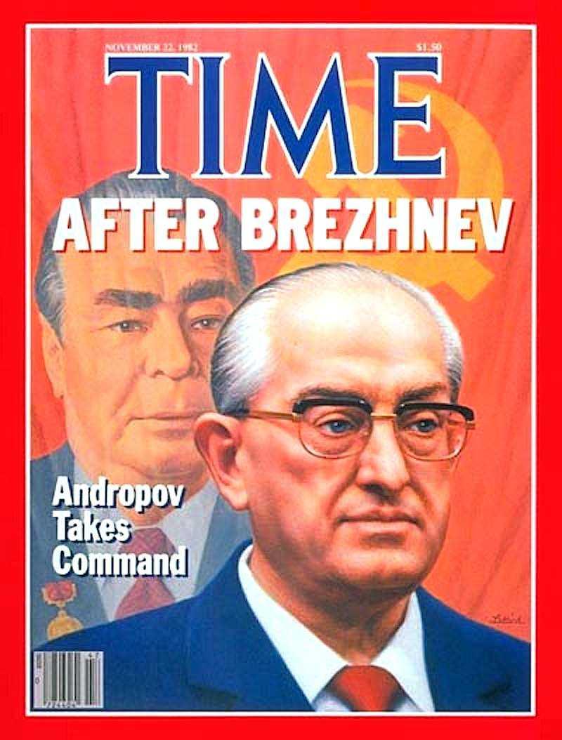 La copertina di Time dedicata al nuovo capo del Pcus Andropov.