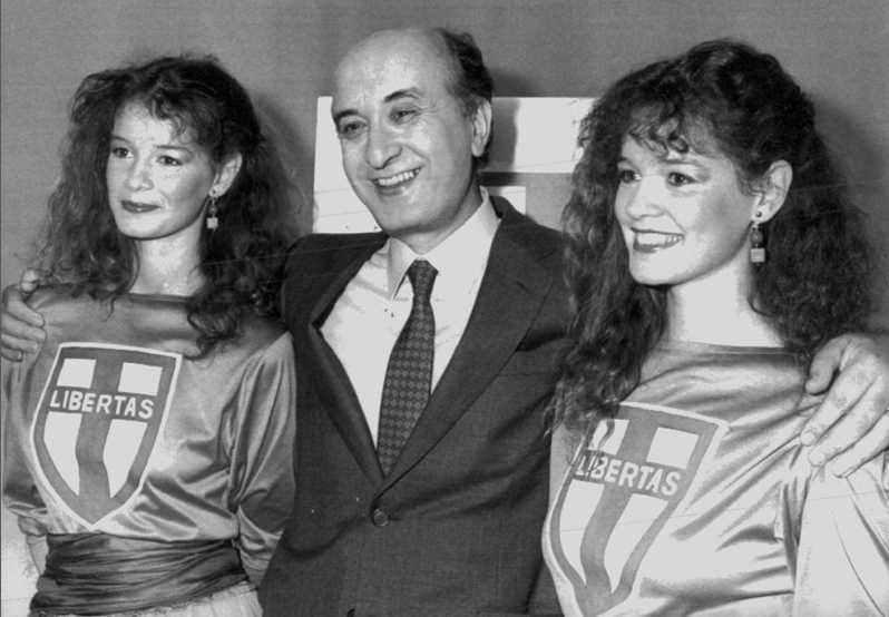Campagna elettorale di De Mita nel 1983.