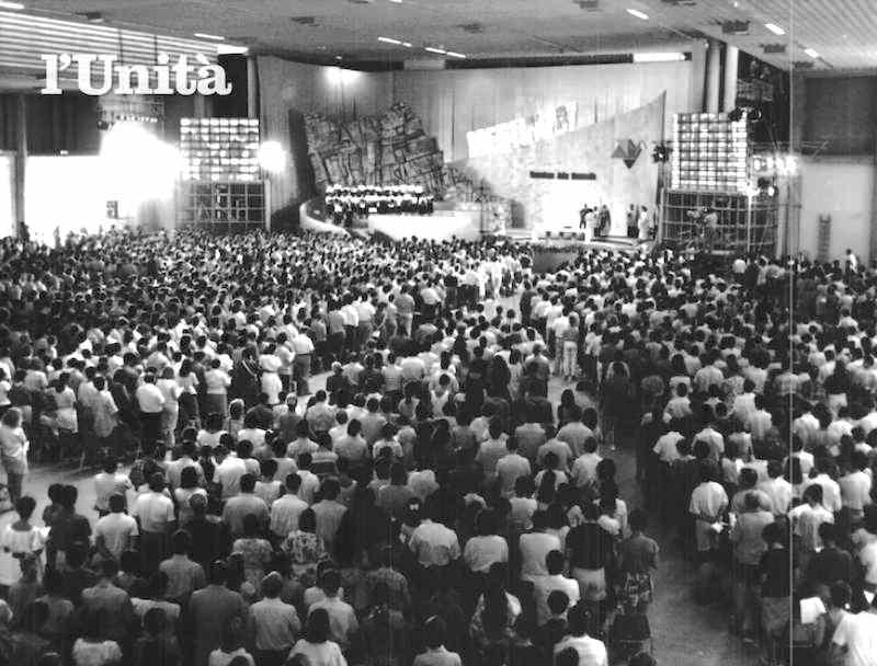 Il meeting di Comunione e Liberazione a Rimini nel 1987.