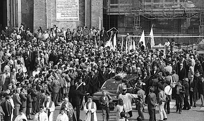 I funerali di Roberto Ruffilli, assassinato dalle Brigate rosse.