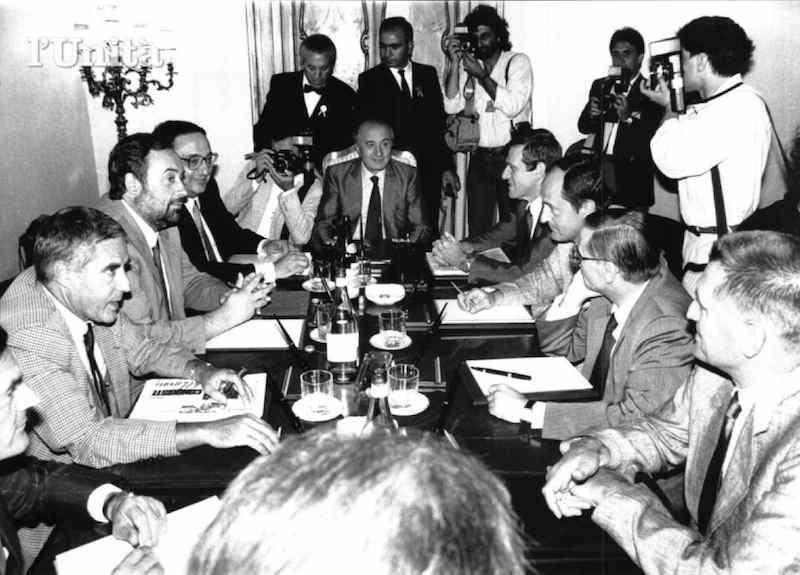 L'incontro del 31 maggio 1988 tra il Presidente del Consiglio De Mita e i dirigenti dei sindacati confederali.