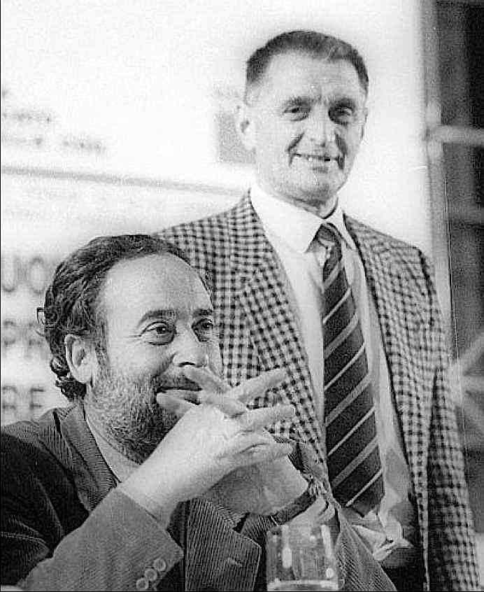 Antonio Pizzinato (a destra) con il suo vice Ottaviano Del Turco nel 1988.