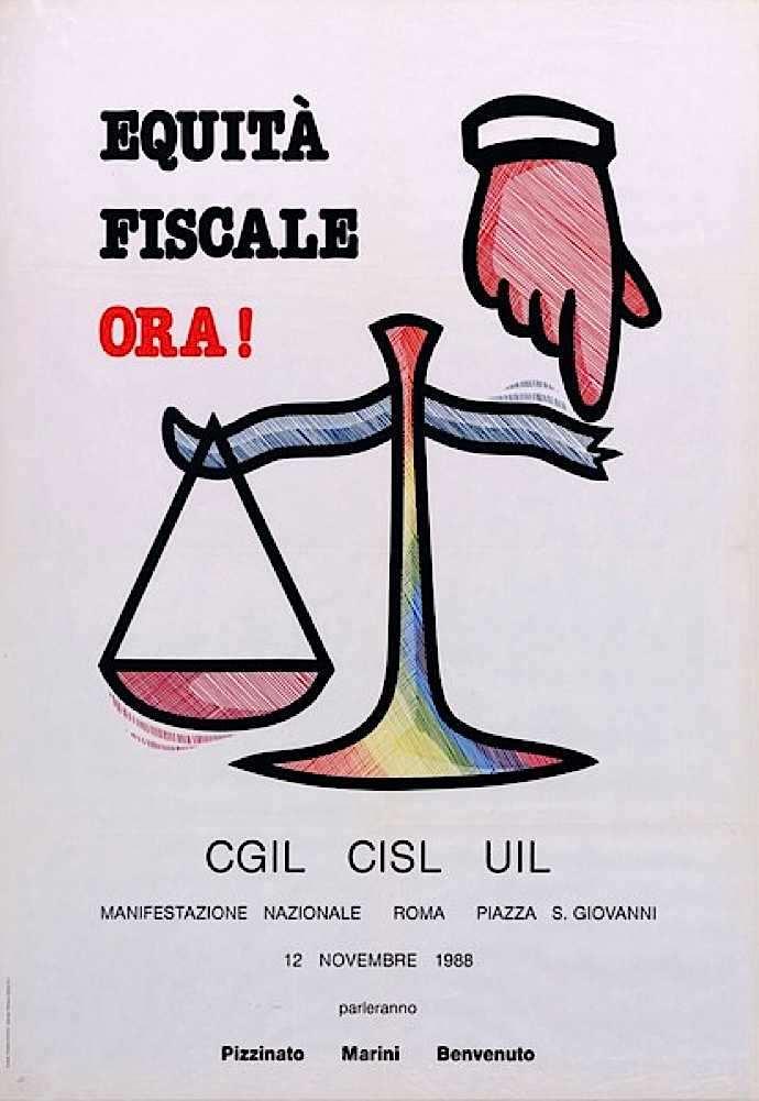 Manifesto per la manifestazione sindacale del 12 novembre 1988.