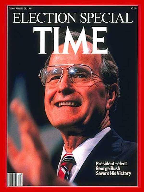 La copertina di Time dedicata all'elezione di George Bush nel 1988.