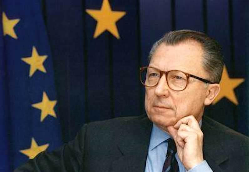 Jacques Delors, presidente della Commissione europea dal gennaio 1989.