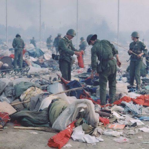 Piazza Tien an men dopo il massacro del 4 giugno 1989.