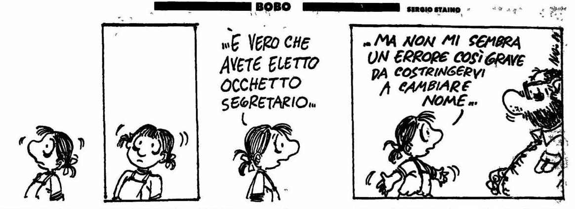 Vignetta di Staino su l'Unità del 19 novembre 1989.