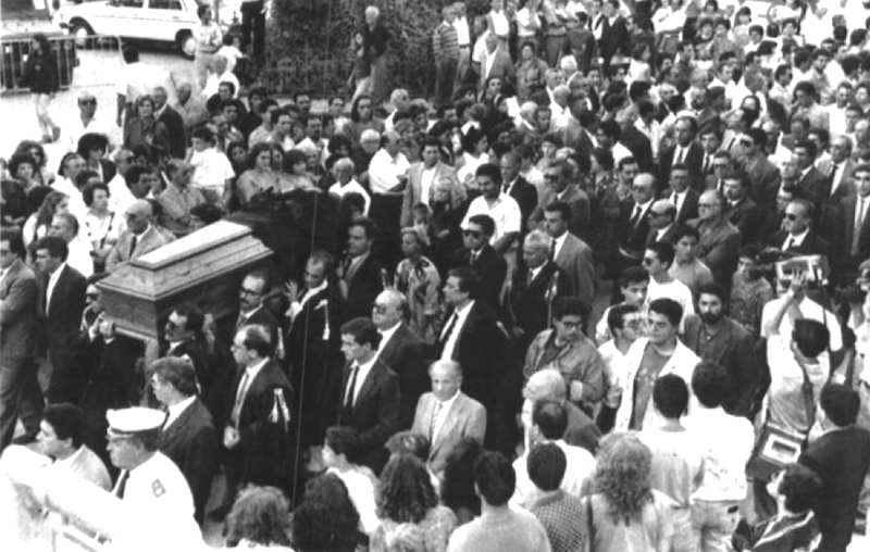 I funerali del giudice Livatino tenuti a Canicattì il 22 settembre 1990.