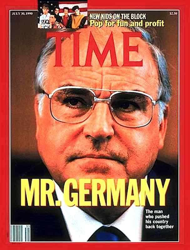 La copertina di Time dedicata a Helmut Kohl, artefice della riunificazione tedesca.