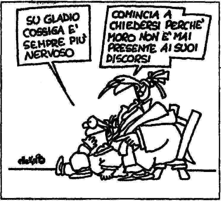 Vignetta di Ellekappa apparsa su l'Unità del 7 dicembre 1990.