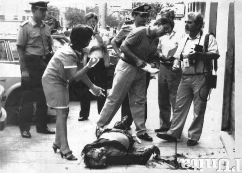 """Libero Grassi, imprenditore palermitano in prima fila contro il """"pizzo"""", viene ucciso dalla mafia il29 agosto 1991."""
