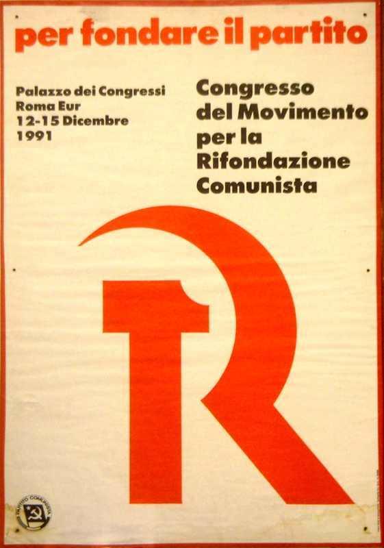 Manifesto per il 1° congresso di Rifondazione comunista del dicembre 1991.