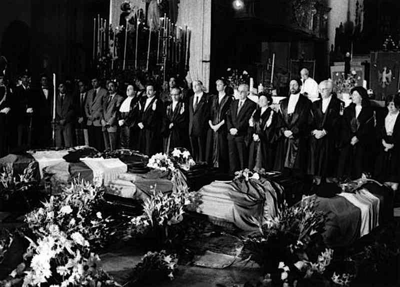 I funerali per le vittime della strage di Capaci.