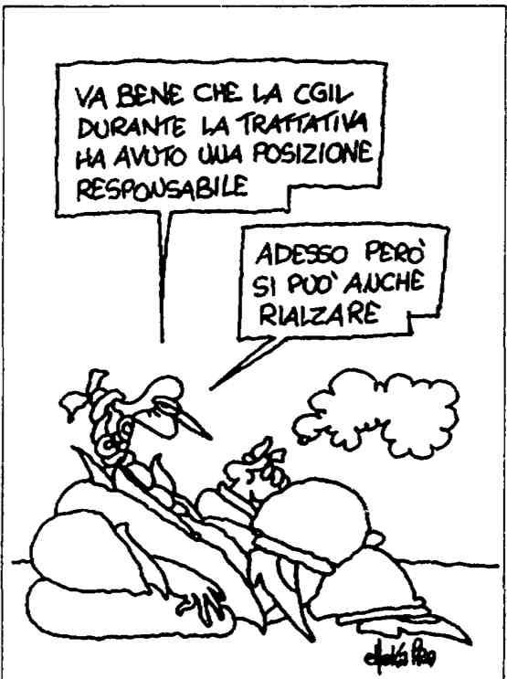 Vignetta di Ellekappa da l'Unità del 1 agosto 1992.