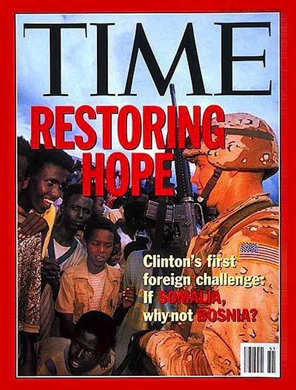 """Nel dicembre 1992 l'Onu dà il via alla missione """"Restore hope"""" per stabilizzare la situazione politica in Somalia."""