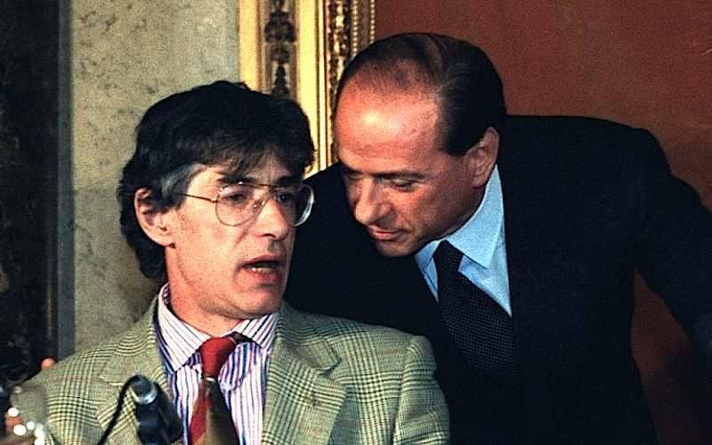 Berlusconi e Bossi (a sinistra nella foto) promotori del Polo delle Libertà.