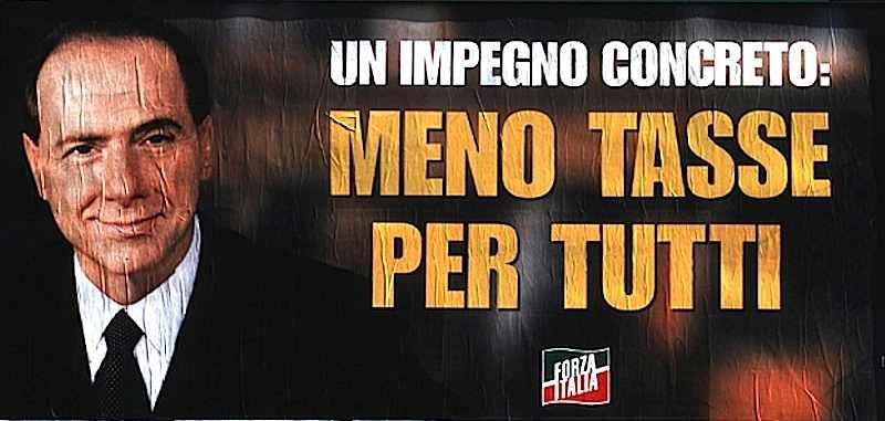 Uno dei maximanifesti della campagna elettorale di Berlusconi.