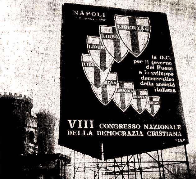 Cartelloni per il congresso di Napoli.