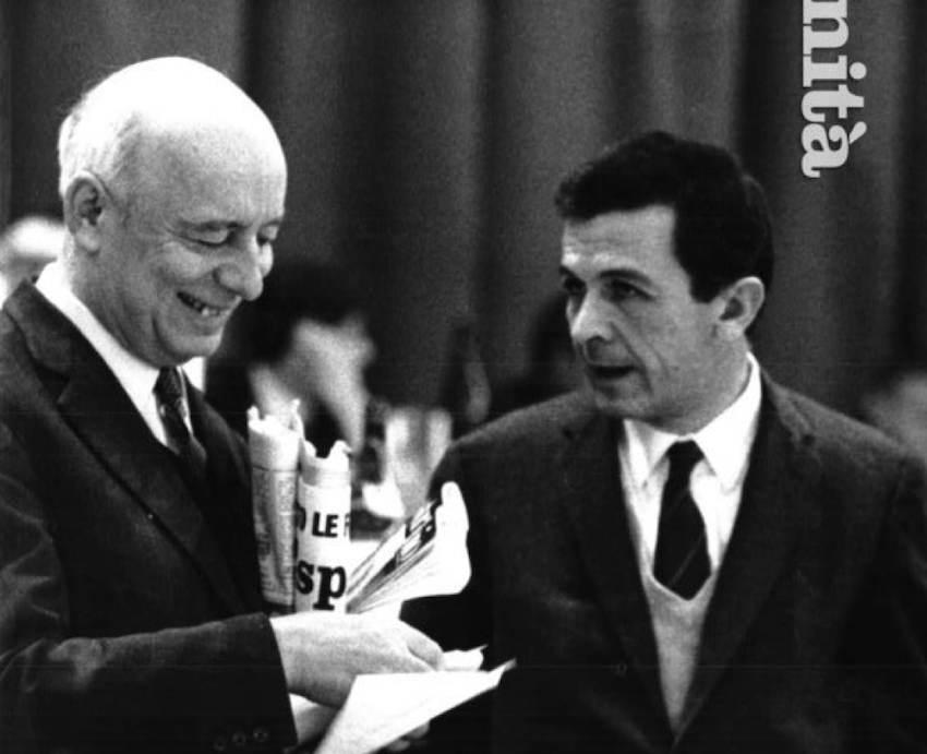 Pajetta e Berlinguer al congresso.